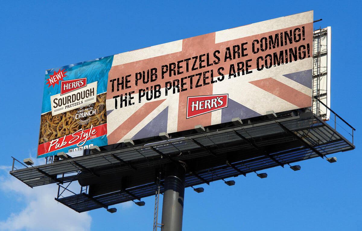 Herr's Pub Pretzels billboard
